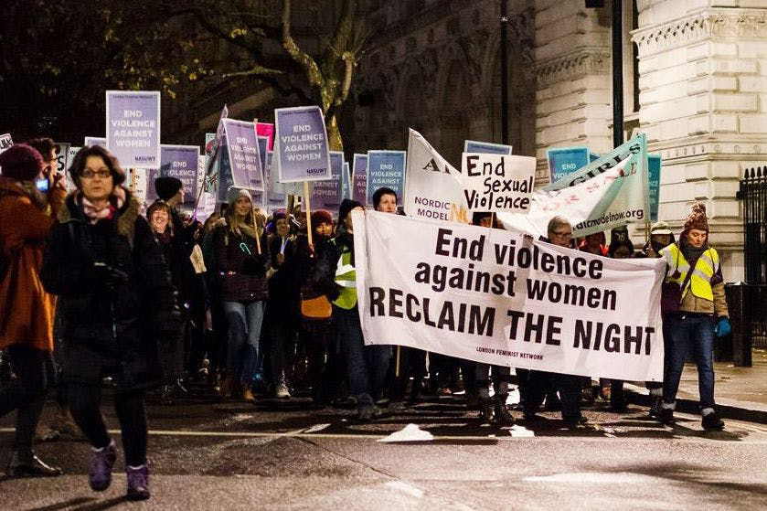Reclaim the Night March London ©The Stylist